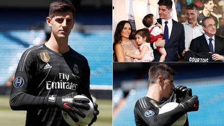 10 fotos de la presentación de Courtois como jugador de Real Madrid