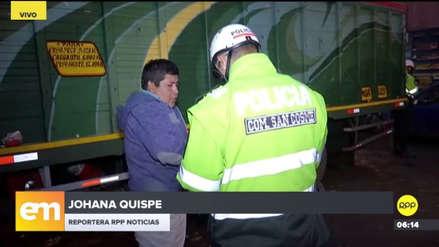 La Victoria: PNP realizó un operativo contra ilegales cobros de parqueos en el Mercado de Frutas