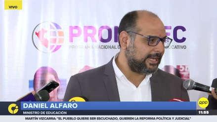 """Daniel Alfaro: """"Defendemos el Currículo Nacional que incluye el enfoque de género"""""""