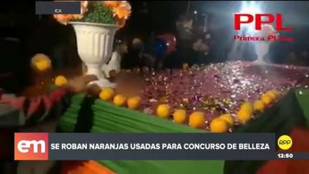 Ica | Asistentes a certamen de belleza robaron naranjas que decoraban la pasarela
