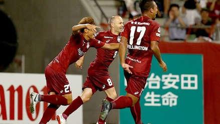 Andrés Iniesta anotó un golazo para darle el triunfo al Vissel Kobe