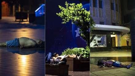 China | Ciudadanos de Shanghái se ven obligados a dormir en la calle por ola de calor