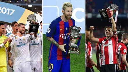 Los últimos cinco campeones de la Supercopa de España