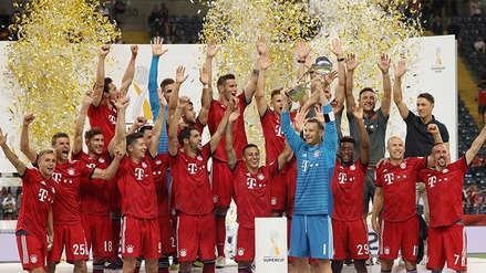 Bayern Múnich se quedó con la Supercopa de Alemania tras golear al Eintracht Frankfurt