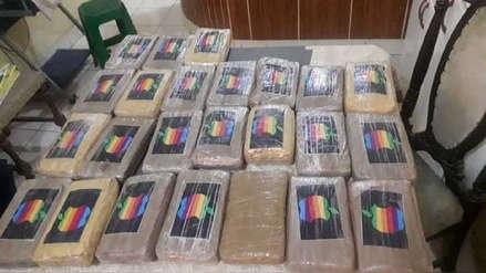 Policía decomisa 97 paquetes de cocaína y detiene a tres personas en Piura