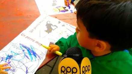 Así viven los niños la Feria Internacional del Libro de Trujillo