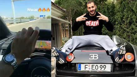¡Polémico! Karim Benzema se grabó manejando a 120  km/h y con una mano
