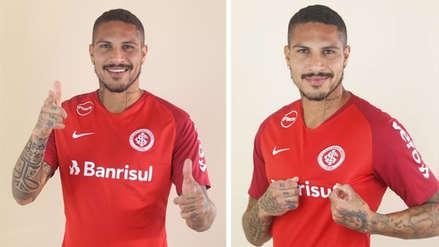 Paolo Guerrero posó por primera vez con la camiseta del Inter de Porto Alegre
