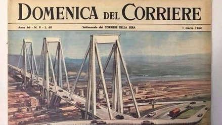 Puente Morandi: Símbolo de la modernidad en la portada de un semanario de 1964