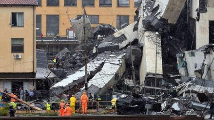 Derrumbe de puente en Génova fue por falla estructural y falta de mantenimiento