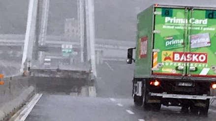 El camionero que frenó a tiempo cuando se derrumbó el puente de Génova