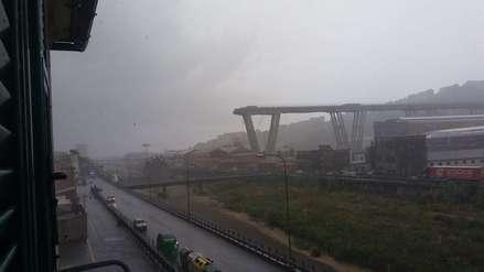 Un puente se derrumbó y varios vehículos cayeron al vacío en Italia