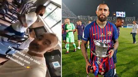 Compromiso total: Arturo Vidal entrena con Barcelona en su día libre