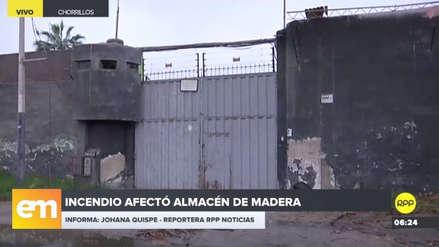 Así quedó la maderera que se incendió este lunes por la noche en Chorrillos