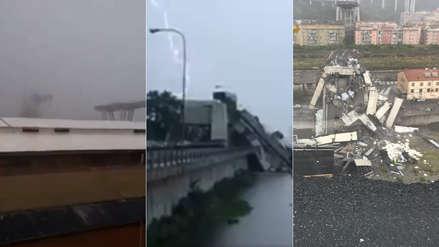 Los videos del derrumbe de un puente en Italia que dejó al menos 22 muertos