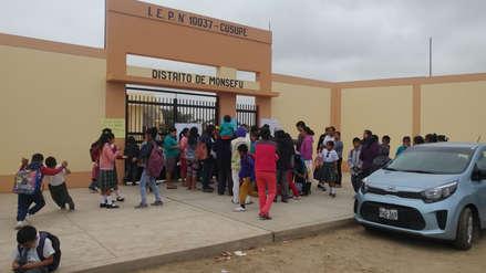 Restablecen clases en colegio de Cúsupe tras orden de descerraje