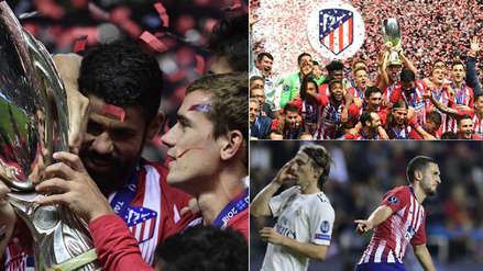 10 fotos del festejo del Atlético de Madrid ante Real Madrid por la Supercopa de Europa