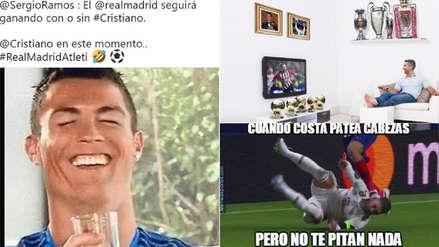 Cristiano Ronaldo en la mira de los memes tras derrota de Real Madrid ante Atlético de Madrid