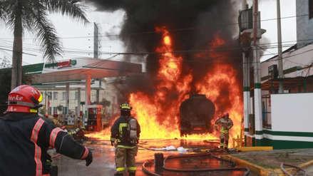 Petroperú dice que no posee estaciones de servicio tras incendio de camión cisterna en grifo