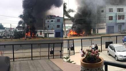 Camión cisterna se incendió en grifo de la avenida Brasil