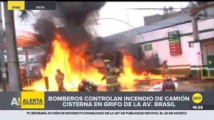 Video | Este es el momento en que el incendio de camión cisterna se reaviva