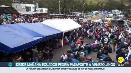 Ecuador exige pasaporte a venezolanos y Defensoría del Pueblo se opone