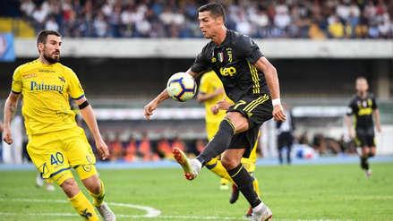 Cristiano Ronaldo realizó su primer lujo con Juventus en la Serie A