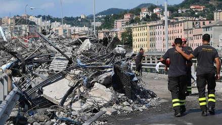 La cifra de muertos por el derrumbe del puente en Génova aumentó a 41