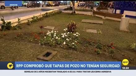 Este era el estado de los pozos en la Plaza de Armas de Cerro Azul