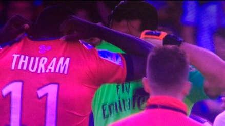 Gianluigi Buffon cambió camisetas con el hijo de Lilian Thuram