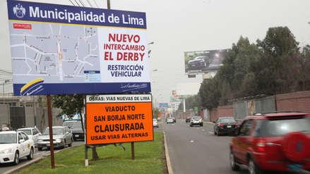 Desvíos en San Borja y Surco por obras del intercambio vial El Derby