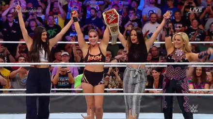 Ronda Rousey se coronó como la primera campeona de WWE y UFC