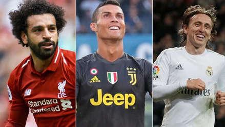 Cristiano Ronaldo, Modric y Salah candidatos a Jugador del Año de la UEFA