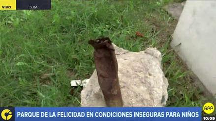 Vecinos alertan sobre condiciones inseguras para niños en parque de San Juan de Miraflores