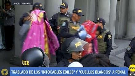 'Los cuellos blancos del puerto' y 'Los intocables ediles' son trasladados a penales de Lima