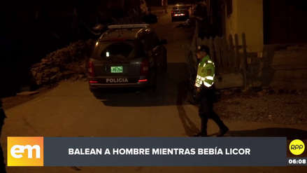 Chorrillos | Hombre fue baleado mientras bebía en la calle