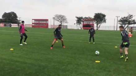 Paolo Guerrero sufrió en el 'camotito' de los entrenamientos del Inter