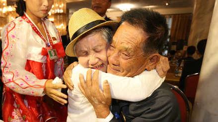 El emotivo reencuentro de las familias coreanas separadas 65 años por la guerra