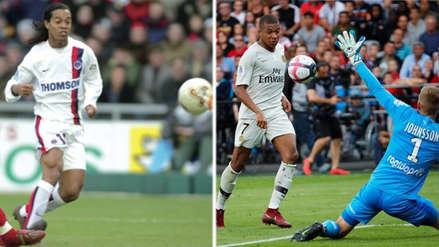 Kylian Mbappé anotó un golazo similar al que hizo Ronaldinho con el PSG