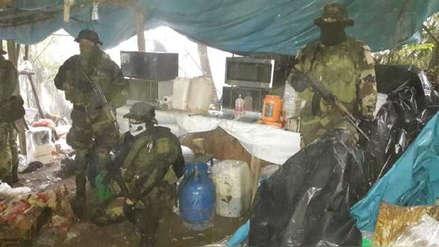 Policía Nacional destruye laboratorio rústico de droga en Ayacucho