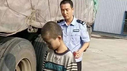 China | Un niño de nueve años viaja mil kilómetros de polizón en un camión