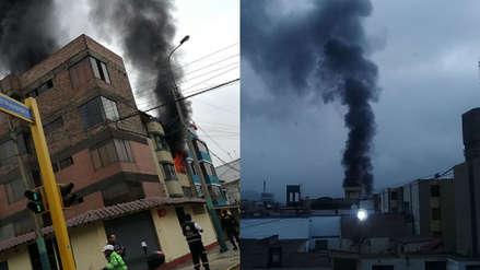 Bomberos controlaron incendio en edificio en San Borja