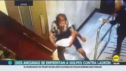 Video   Dos ancianas se enfrentaron a ladrón por robo de collar en España