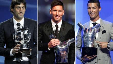Cristiano Ronaldo y los últimos diez ganadores del premio a Mejor Jugador UEFA del Año