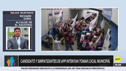 Simpatizantes de Alianza Para el Progreso intentaron tomar el municipio de El Agustino