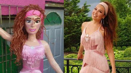 #ThalíaChallenge: Crearon piñata de la cantante y ella ya la pidió como regalo de cumpleaños