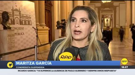 Maritza García dijo que su suspensión de 120 días es una venganza de Fuerza Popular