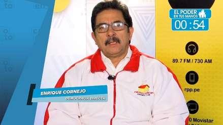 Elecciones 2018: Enrique Cornejo y sus propuestas en transporte, seguridad y lucha anticorrupción