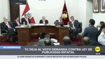 Tribunal Constitucional dejó al voto la demanda contra la ley de publicidad estatal