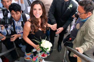 Vanessa Terkes: El vestido con motivos peruanos que usó en su boda civil [FOTOS]